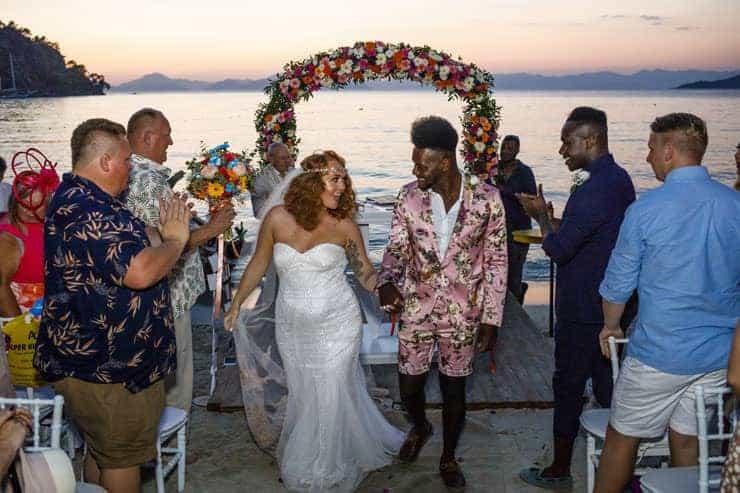 Fethiye Help Beach Wedding Photographs - sunset ceremony