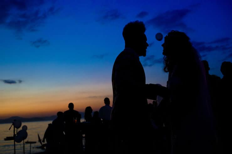 Fethiye Help Beach Wedding Photographs - sunset ceremony