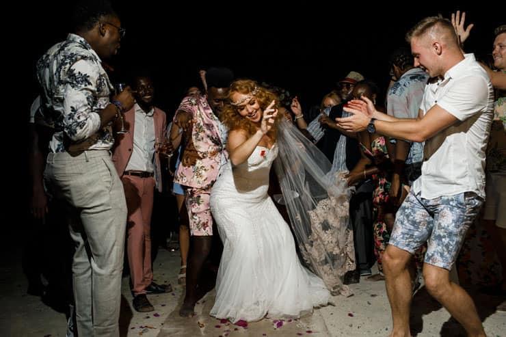Fethiye Help Beach Wedding Photographer - bride singing