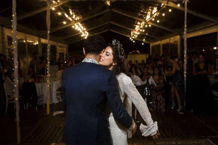 lebanese wedding reception istanbul - couple on the dance floor