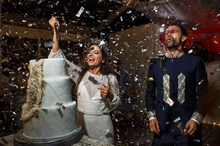 lebanese wedding - couple on the dance floor