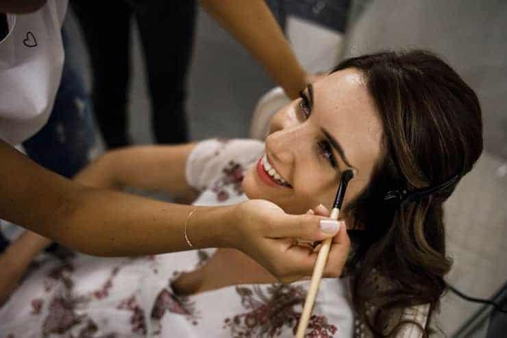 Villa Orselina Locarno Wedding Photographs - make up