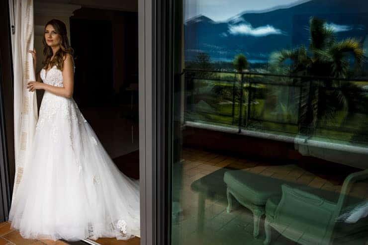 Villa Orselina Locarno Wedding Photographs - bride portrait