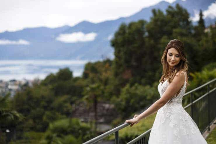 Villa Orselina Locarno Wedding Photographer - bride