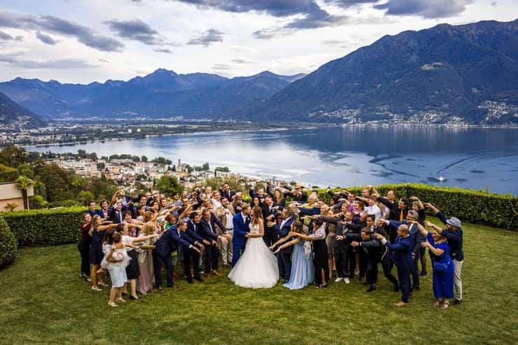 Villa Orselina Locarno Wedding - Group Shooting