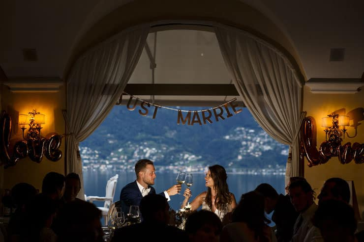 Villa Orselina Locarno Wedding - dinner