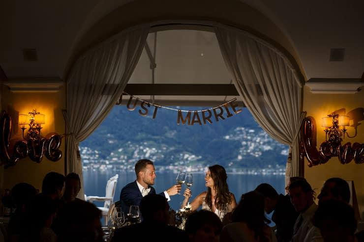 Villa Orselina Locarno Wedding - dinner