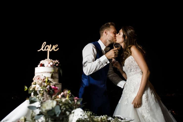 Villa Orselina Locarno Wedding - cake cutting