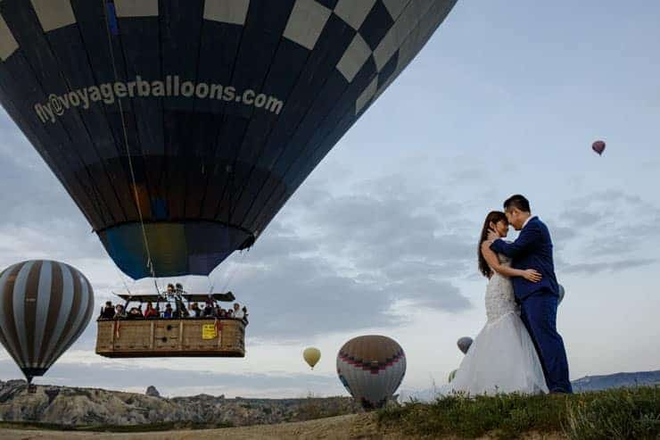 Cappadocia Pre Wedding Hot air Balloons Photos