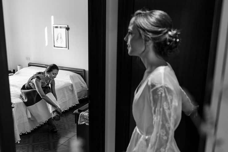 Milan getting ready - bride's family