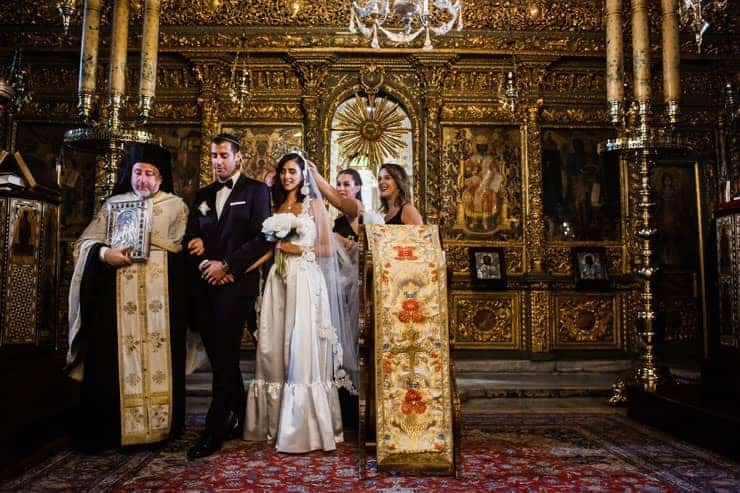 Wedding Ceremony Photos in Patriarchate Church Istanbul Turkey