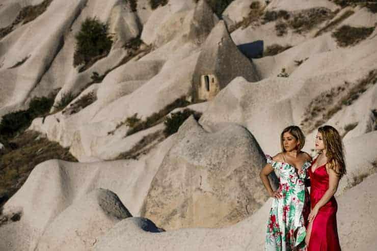 Amerikalı Anne ve Kızının Kapadokya Portre Fotograflari