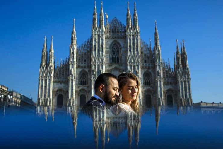 Elopement Wedding Photographer in Milan Turkish Couple
