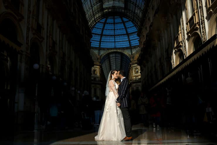Elopement Wedding Photographer in Milan Streets