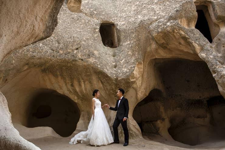 Kapadokya Gelin damat fotograflari cekimi