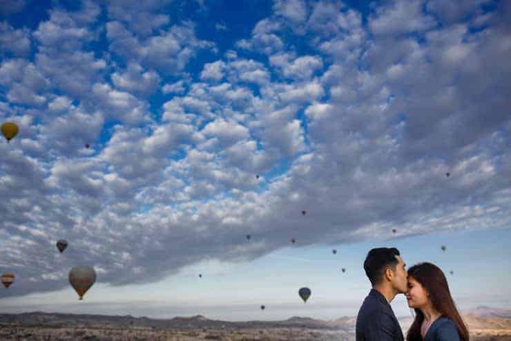 Balonlarin Altinda Evlenme Teklifi Cekimi