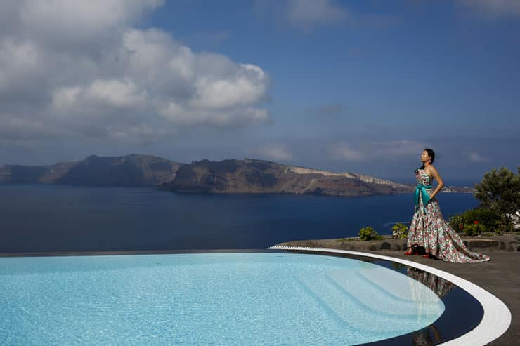 Santorini Pre Wedding Photo shoot greece