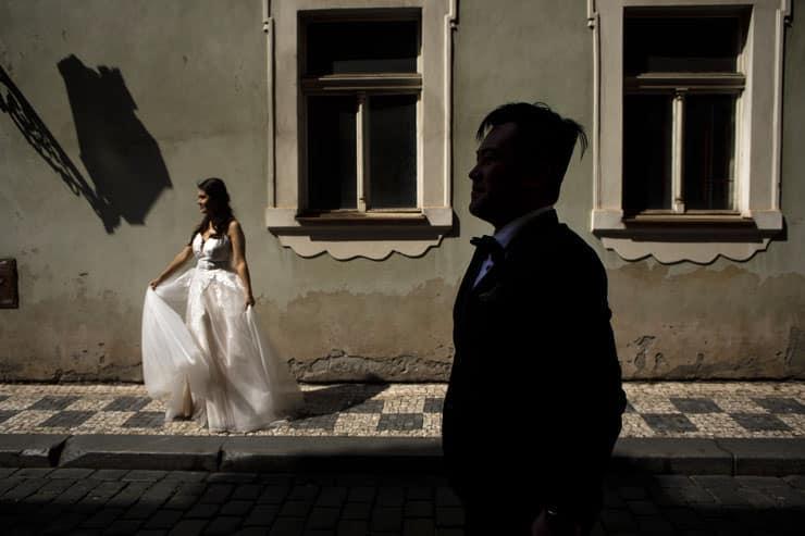 prague pre wedding photos Czechia