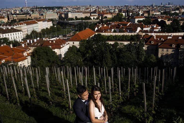 prague pre wedding photos Czechia